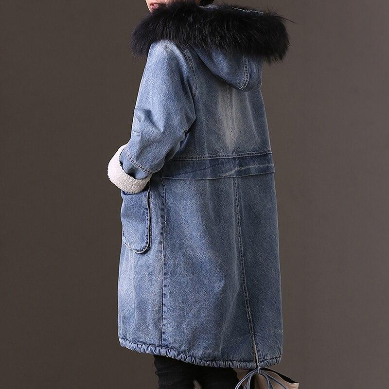 Version W6338b Longue Avec Une Veste The De Coréenne Jean La En Blue Banlieue 5wHrwxU