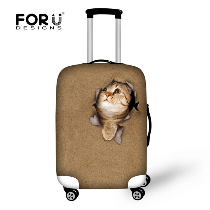 FORUDESIGNS Thick Elastic Dustproof Luggage Case Cover for 18-30 inch Protector Trolley Suitcase Cover Luggage Accessories
