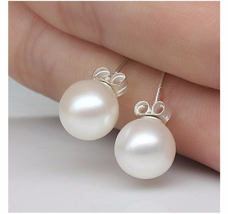High quality round pearl earrings Ms. nightclubs popular fashion color retention hypoallergenic jewelry factory wholesale 4