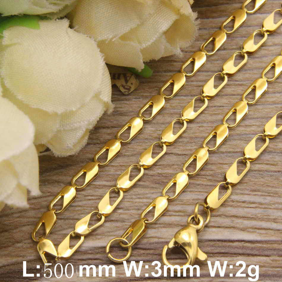 HOT Accessories Wholesale Stainless Steel Jewelry Fashion Plated gold color Necklaces for women NFODKEDP
