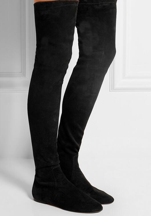 Здесь продается   Fashion New Boots Over-The-Knee Round Toe Height Increasing Solid   Обувь