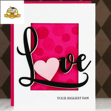 LOVE Heart Letter Die Metal Cutting Dies Stencils For DIY Scrapbooking Embossing Paper Knife Mould Cuts Photo Album