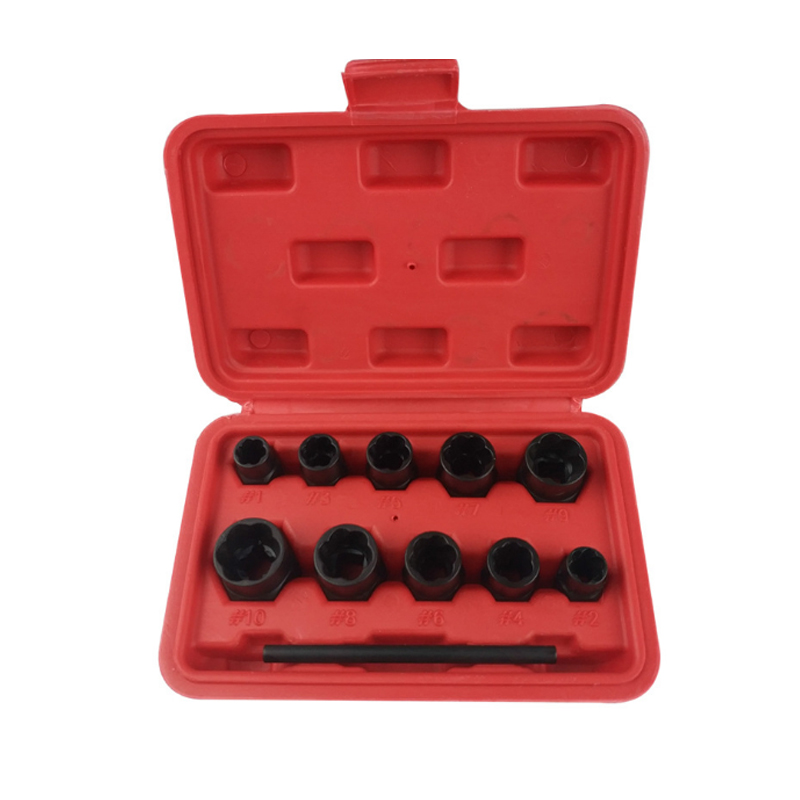 цена на 11 In 1 Broken Screw Extractor Set Nut Screws Bolts Fastners Taken Out Tool Drill Bit Guide Set Drills Remover Tool With Box