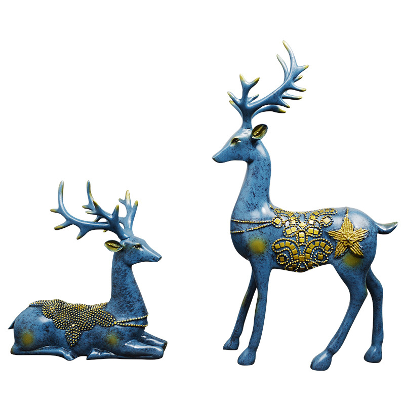 2pcs/Set Artificial Big Size Deer Fairy Home Miniatures Luxury Resin Animal Crafts Figurines For Wedding Party Decoration Gifts2pcs/Set Artificial Big Size Deer Fairy Home Miniatures Luxury Resin Animal Crafts Figurines For Wedding Party Decoration Gifts