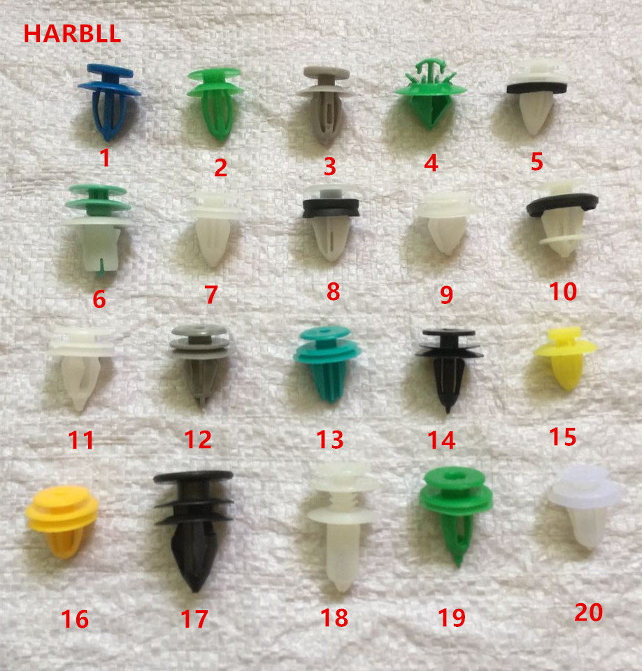 HARBLL Auto Repair Maintenance Electrical Lines Modification Fixed Plastic Fastener Clip Mixed Set For All Car Styling