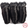 EVET Brazilian Bouncy Spring Curly Hair 1 Bundles Natural Color #1B Virgin Spring Curls  Hair 100g/pcs Human Hair Weaves