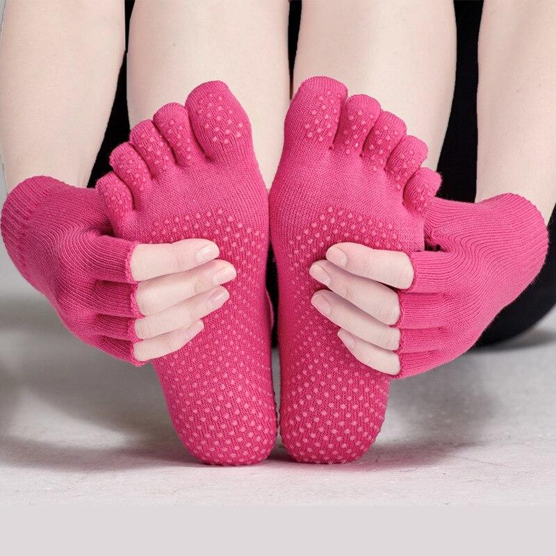 @1  Женские перчатки для йоги и носки Набор из 1 пары носков + 1 пара перчаток Пять носков + половина па ①