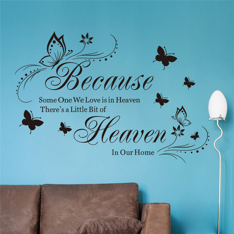 Theres A Little Bit Of Heaven In Our Home Quotes Wall Art Stickers