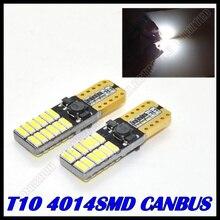 1PCS/lot Car Auto LED T10 canbus led W5W Canbus t10 led 24smd 4014 LED Interior Light Parking Light External Light