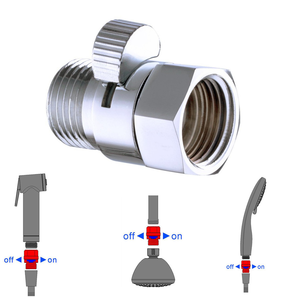 Exceptional Brass Shower Flow Control Valve Water Pressure Reducing For Bidet Spray Or  Hand Shower Head Diverter Shut Off Switch In Filling Valves From Home  Improvement ...