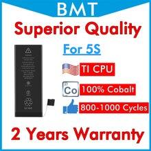 BMT batería Original para iPhone 5S, calidad Superior, cobalto ILC + tecnología 100%, reparación 2019, reemplazo de 1560mAh, iOS 13, 10 Uds.