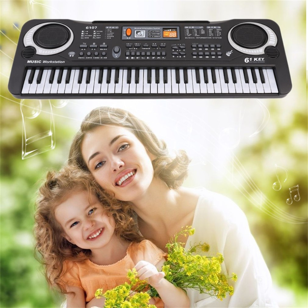 2018 New 61 Keys Digital Music Electronic Keyboard Key Board Gift Electric Piano Organ Instrument Gift Toy For Kids Hot Sale ...