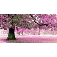 Pink Flowers Scenery Pictures Diy 5D Diamond Painting Full Square Drill Embroidery Rhinestones Cross Stitch Home