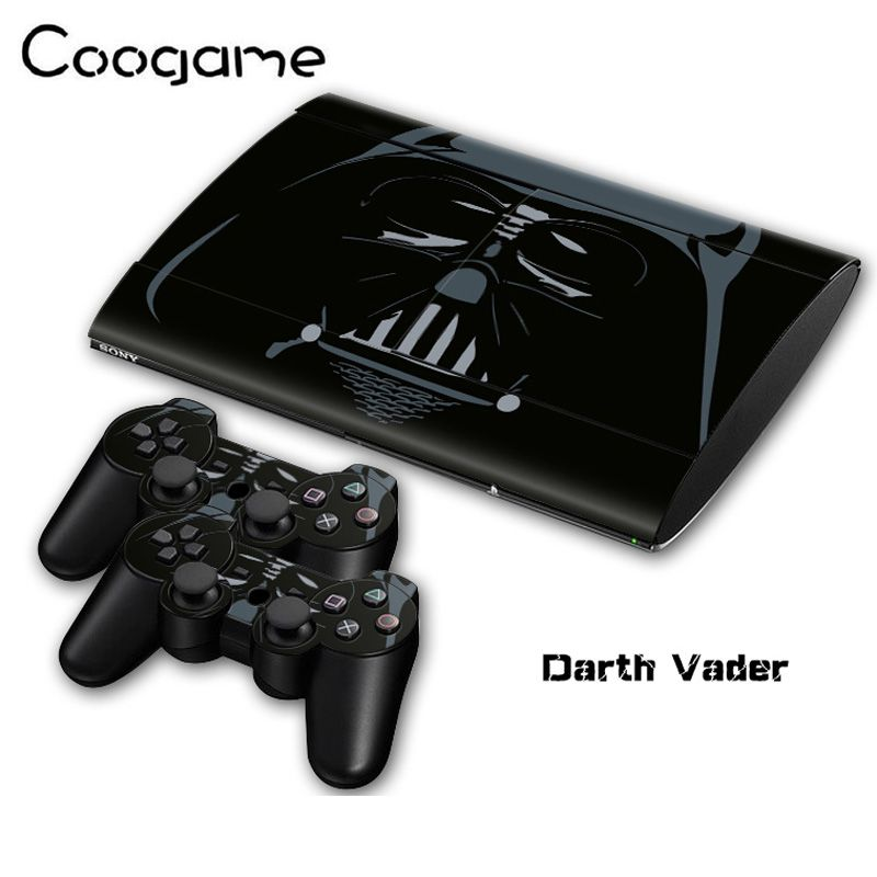 High Clear Print Darth Vader Sticker For Palystation 3 Slim4000 Console & 2 Controller Decal