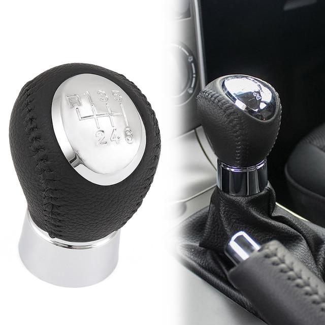 New Black Leather 6 Speed Manual Transmission Gear Shift Knob For Mazda 6  Gear Head