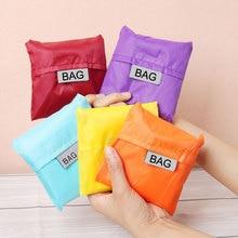 ETya Новая модная Водонепроницаемая хозяйственная сумка Портативная Складная креативная многоразовая Складная хозяйственная сумка эко сумка для покупок