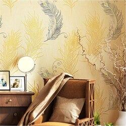 Beibehang imitatie borduurwerk behang 3d stereo reliëf behang warme slaapkamer woonkamer TV muur papel de parede