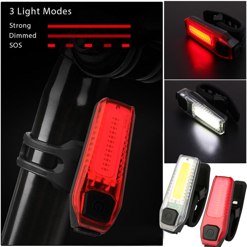 Bicycle LED Tail Light Safety Warning Light LED Night Mountain Bike Rear Light Lamp Bicycle Light #FS#4MY25