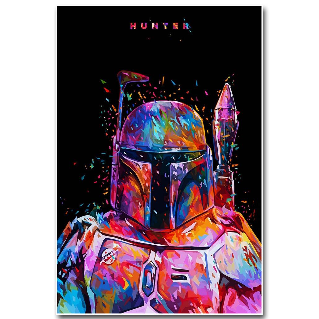 Stáhnout obrázek Star Wars 7 The Force Awakens Art Silk Fabric Print 13x20 24x36 inch Movie Boba Fett - Obrázkek zdarma pro Room Wall Decor 005