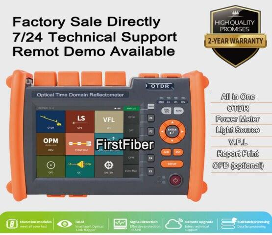 2019 nuevo PRO de fibra óptica OTDR reflectómetro con OPM OLS VFL OLT funciones informe impreso pantalla táctil FC SC ST conectores