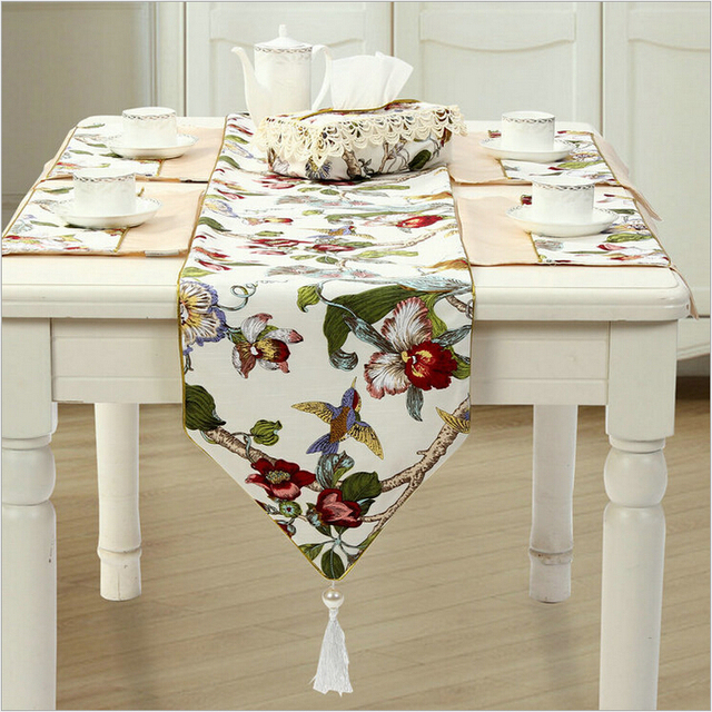 Country Style 100%cotton Bamboo Joint Table Runner Cloth Wedding Decor Top  Grade Bed Runner