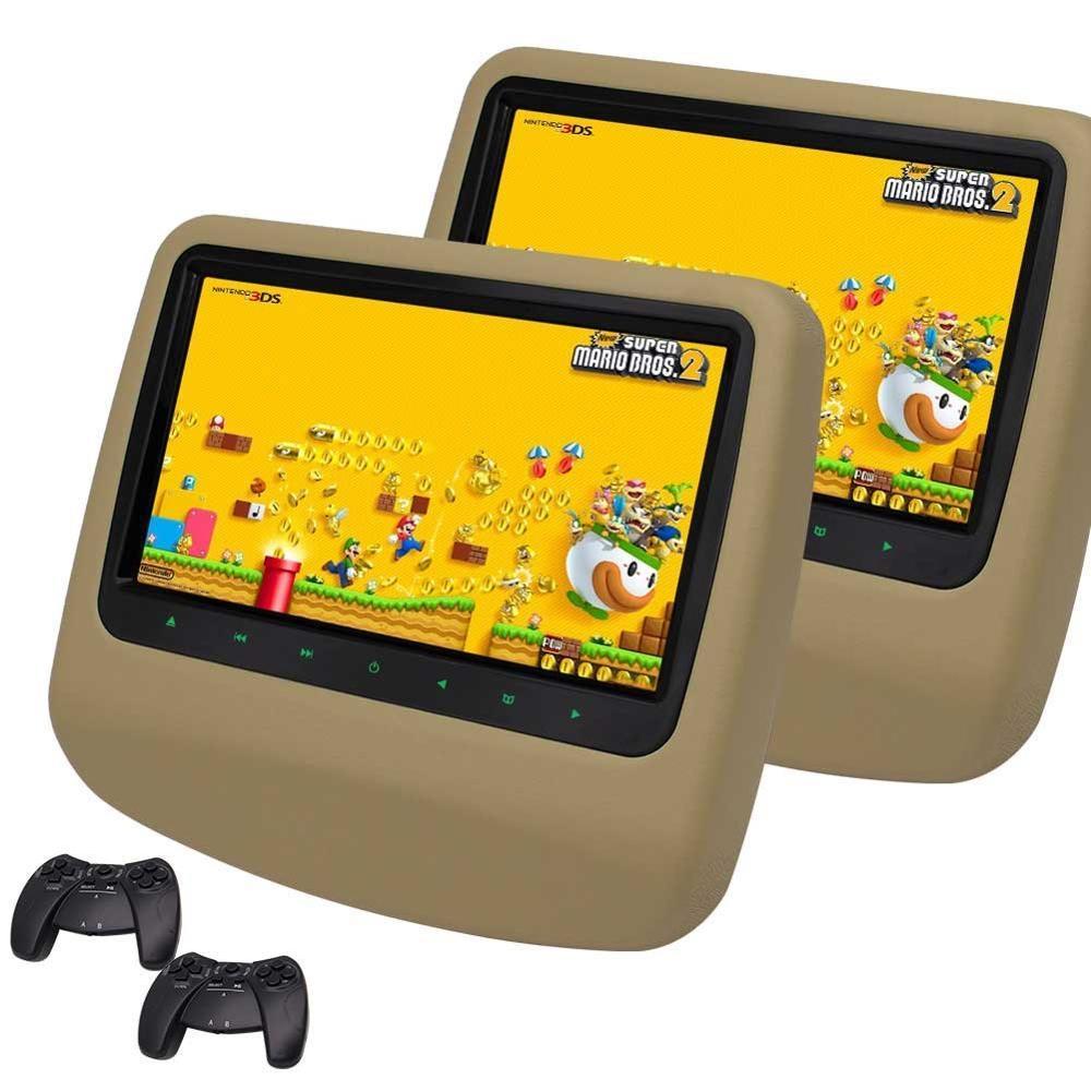 9 39 39 car headrest dvd player dual screen portable rear seat. Black Bedroom Furniture Sets. Home Design Ideas