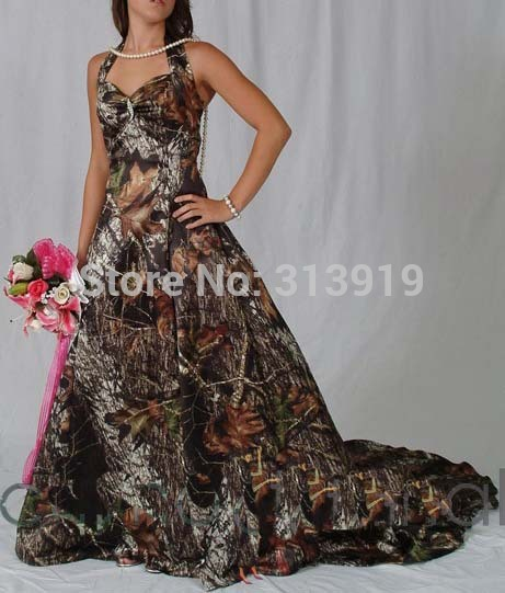 halter mossy oak camo wedding dresses 2017 camouflage bridal gowns ...