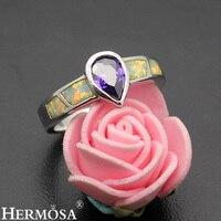 Elegant Precious Stone Jewelry Mystic Fire Australian Opal 925 Sterling Silver Ring Size 9 DF47 Perfect