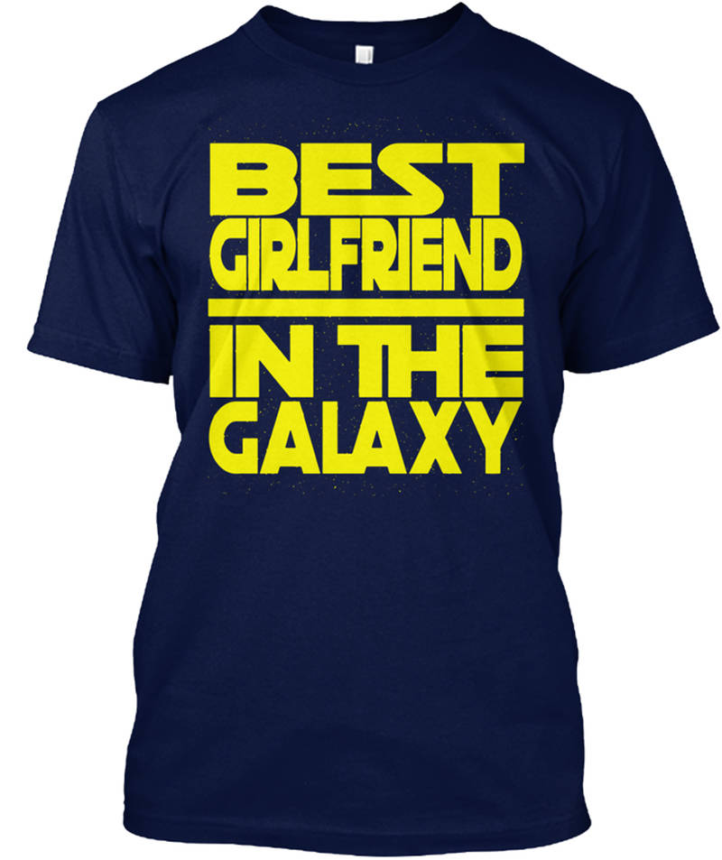Military T Shirts Crew Neck Men Short Graphic Girlfriend In The Galaxy Tees in T Shirts from Men 39 s Clothing