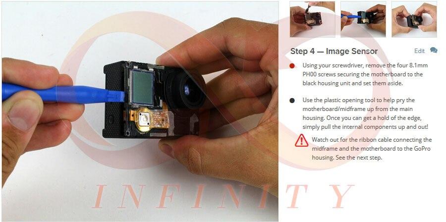 100% חדש מקורי תחזוקה מקצועי עבור Gopro Hero4 עדשת המצלמה חלקי חילוף לתיקון החלפה