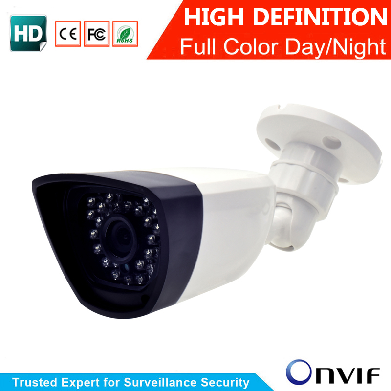 CCTV Bullet IP Camera 1MP 2MP Waterproof Outdoor HD 720P 960P 1080P HD Night Vision P2P Security Ip Camera ONVIF Free Shipping techage hd bullet 1080p 2mp cctv ip camera 4pcs array led outdoor ip66 waterproof onvif p2p night vision security power adapter