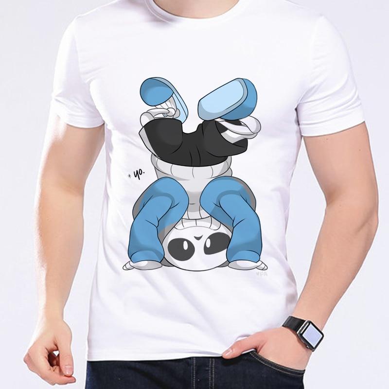 Summer Brand Men   T     Shirt   Game Undertale Upside Down Sans Interesting Cartoon   T  -  Shirt   Wholesale O Neck Kawaii   T     Shirt   L1D2