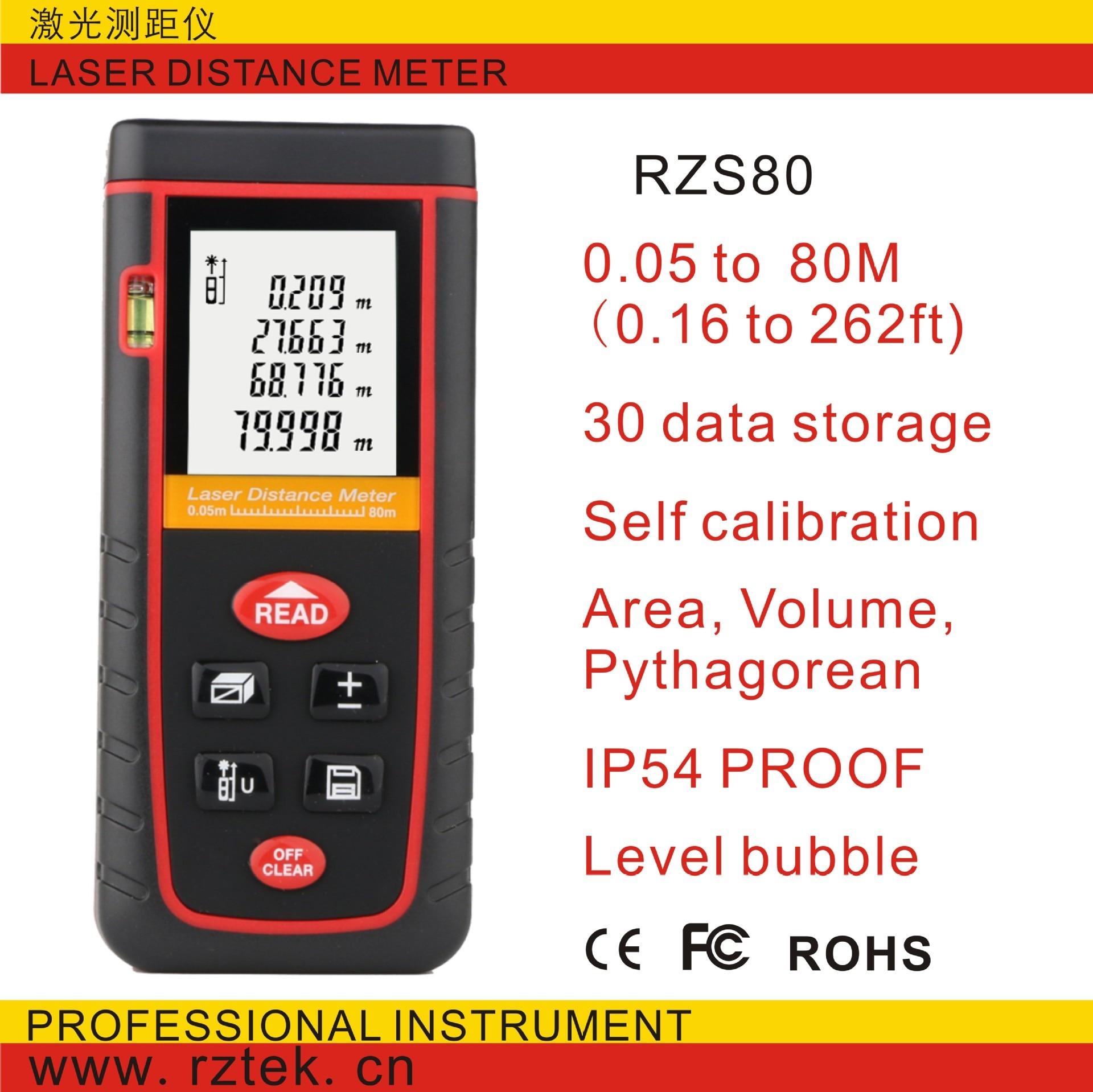 Digital laser distance Meter trena laser Tape measure Diastimeter tester tool 100M-80M-60M-40M Laser Rangefinder RZS80  цены