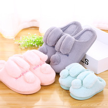 2016Indoor Warm Bear Slippers Winter Cotton Plush women Slipper Emoji men woman Shoes Soft Big Size  Thicken Sole Free shipping