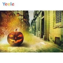Yeele Halloween Party Decor Pumpkin Grunge Castle Photography Backdrop Personalized Photographic Backgrounds For Photo Studio