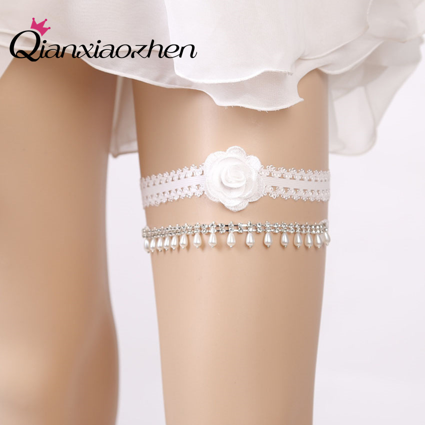 Why Two Garters For Wedding: Aliexpress.com : Buy Qianxiaozhen 2pcs/set Flowers Lace