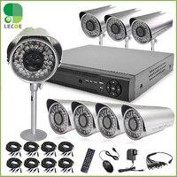 Home 1200TVL 8CH CCTV Security Camera System 8CH DVR 1200TVL Outdoor Day Night IR Camera Kit Color Video Surveillance DVR System