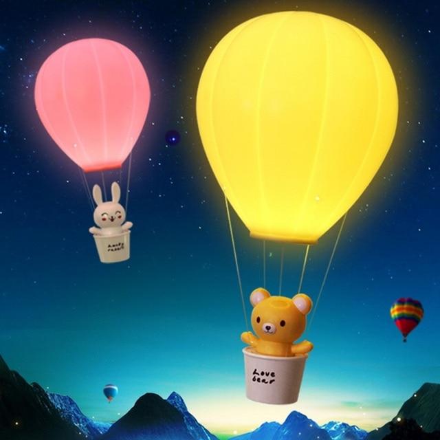 US $14.48 31% OFF|AKDSteel Dimmbare Heißer Luft Ballon LED Nachtlicht  Kinder Baby Kinderzimmer Lampe Mit Touch Schalter USB Aufladbare Wand Lampe  in ...