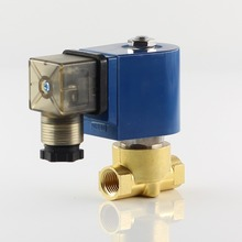 """2/2-way Direct Acting Solenoid Valve,Normally Closed,Fluid Media Hot Water Gas Oil Etc.G or NPT 1/8 1/4 3/8 1/2"""" Threaded free shipping 1 1 2 2 way pulse solenoid valve normally closed dmf z 40s"""