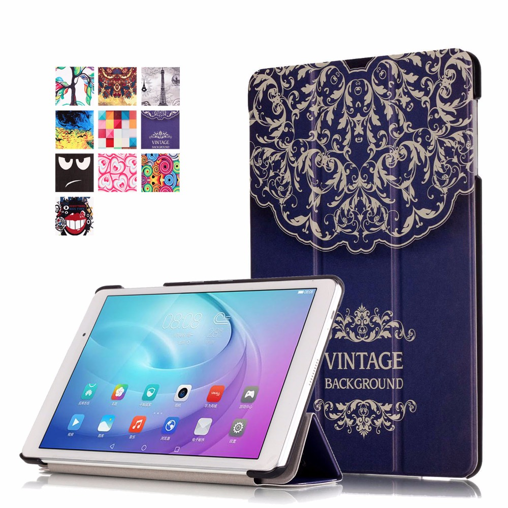 PU Leather Magnetic Smart Cover For Huawei MediaPad T2 10.0 Pro Case Slim Painting Case for Huawei Mediapad T2 10.0 Pro Cover book leather case tablets accessories business cover fundas for huawei mediapad m2 ple 703l t2 7 0 pro pu stand cases capa