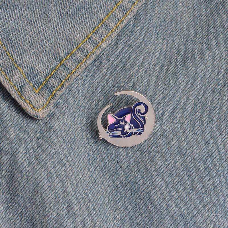 Manxiuni 1 шт./компл. модные «Сейлор Мун» кошкой луной мультфильм брошка, пуговица, булавка сумка джинсовая куртка