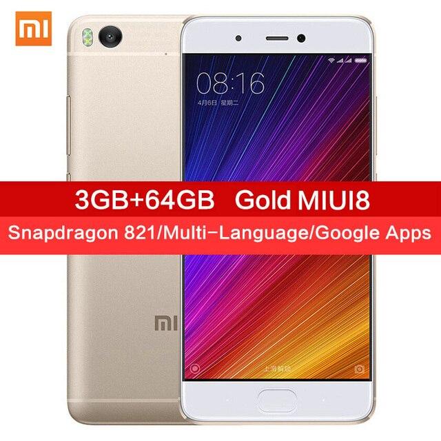 "Original Xiaomi Mi5s Mi 5S 3GB RAM 64GB ROM Snapdragon 821 Quad Core 5.15""Inch 1920x1080P Fingerprint ID MIUI 8 Mobile Phone"