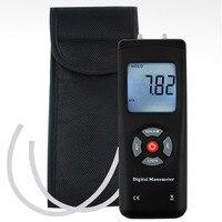 Digital Portable Manometer Handheld Air Vacuum/Gas Pressure Gauge Meter +/ 13.78kPa +/ 2PSI, 11 Units with Backlight