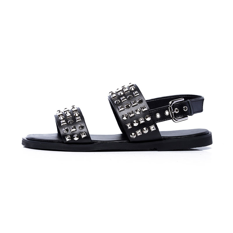 Gothic Mens Clip Toe Flats Beach Shoes Casual Leather High Top Roman Sandals