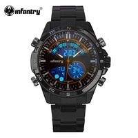 INFANTRY Military Watch Men LED Digital Quartz Mens Watches Top Brand Luxury Black Bracelet Pilot Army Sport Relogio Masculino