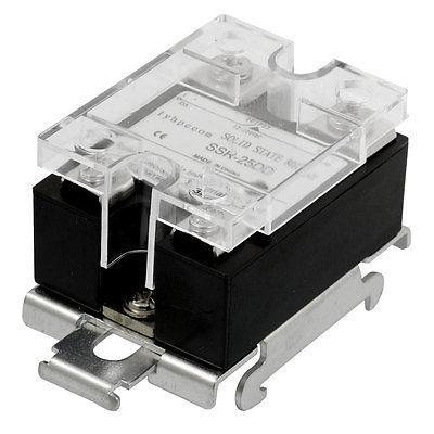 DC 3-32V Temperature Control Solid State Relay 25A SSR-25DD w DIN Rail Base from the valley to the mountain top