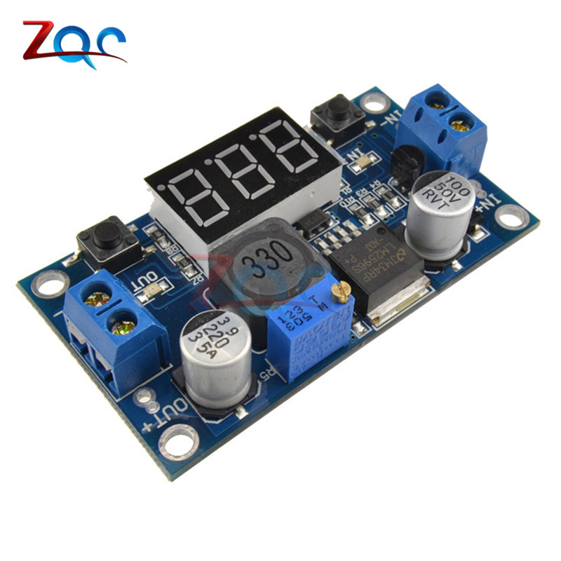 DC-DC Buck Step Down Module LM2596 DC/DC 4.0~40V to 1.25-37V Adjustable Voltage Regulator With LED Voltmeter 100 pcs lm317m to 252 lm317 medium current 1 2 to 37v adjustable voltage regulator