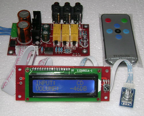 ФОТО 2015 NEW CS3310 remote preamp power audio amplifier board  Free Shipping