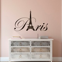 Paris Eiffel Tower Wall Sticker For Living Room Bedroom Wall Art Posters Removable Vinyl Home Decal