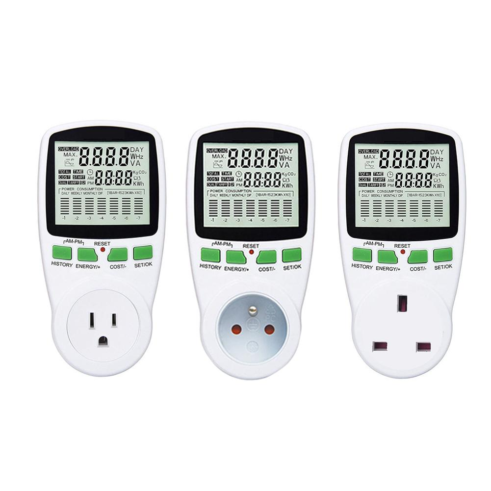Electricity Consumption Measuring Socket Digital Wattmet Power Meter Electronic Energy Meter Voltage Wattmeter Power Analyzer conspicuous consumption